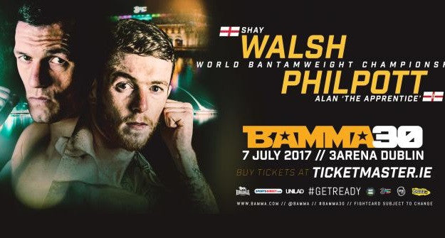 Alan Philpott & Shay Walsh to fight for BAMMA title in Dublin