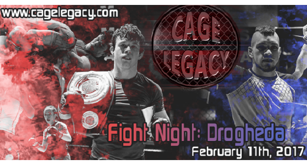 3 Amateur Title Fights top the bill at Cage Legacy FN: Drogheda