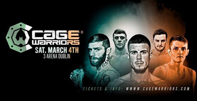Cage Warriors Dublin Fight Card