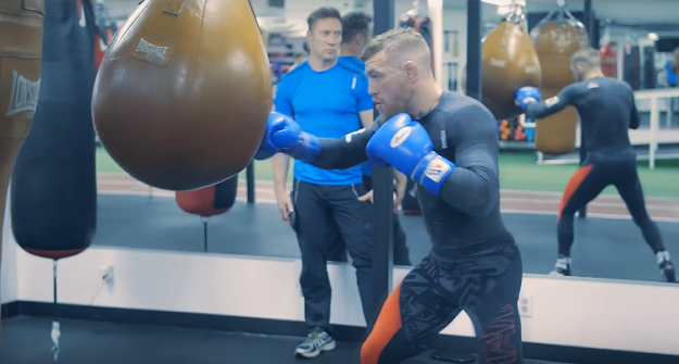 [Video] Conor McGregor works the bag in California