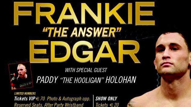 Frankie Edgar is coming to Ireland in January