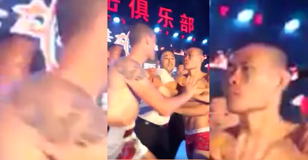 James Heelan nearly involved in a brawl at weigh-ins in China