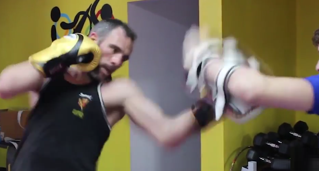 [Video] Mark Casserly hitting pads