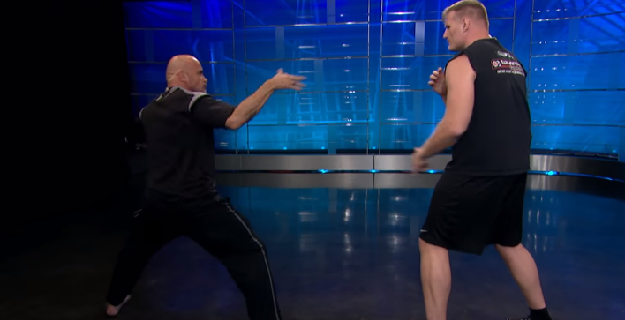 Bas Rutten & Josh Barnett act out McGregor vs. Mayweather