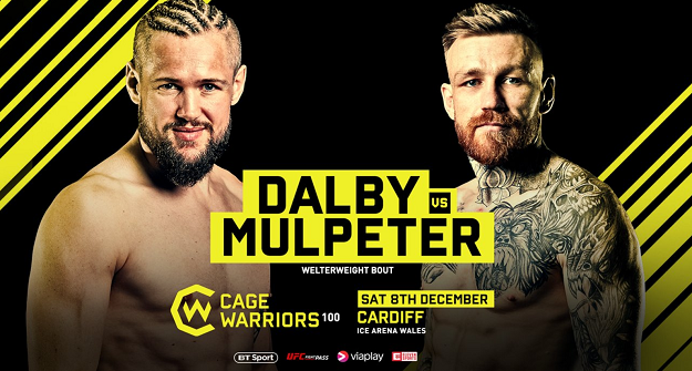 Philip Mulpeter vs. Nicolas Dalby set for Cage Warriors 100