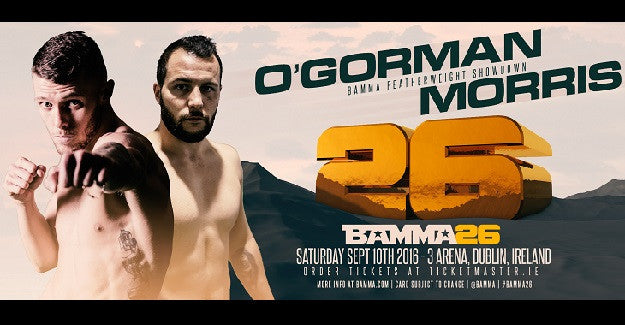 Gary Morris vs. Darren O'Gorman added to BAMMA 26