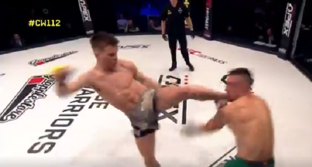 Video: Paul Hughes Headkick KO at Cage Warriors!!