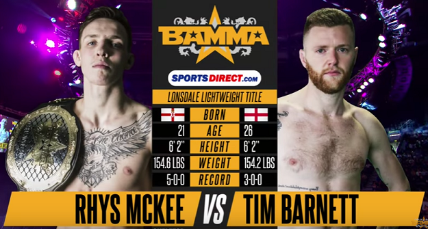 Free Fight: Rhys McKee vs. Tim Barnett - BAMMA 28