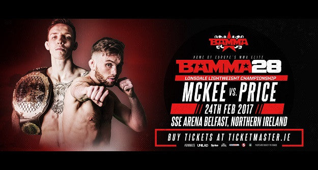 Rhys McKee to defend BAMMA title in Belfast against Myles Price