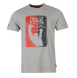 Everlast Logo T Shirt Grey