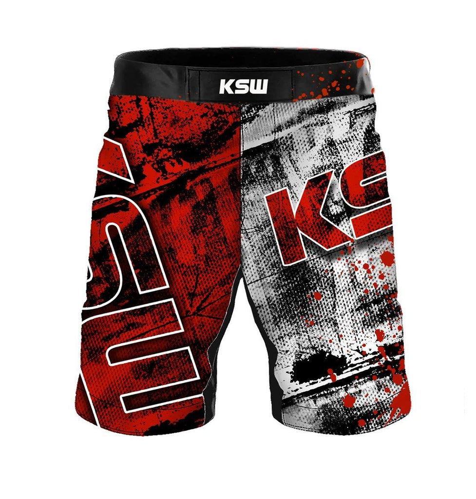KSW MMA Shorts Red