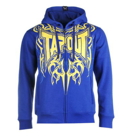 Tapout Logo Zip Hoodie Blue
