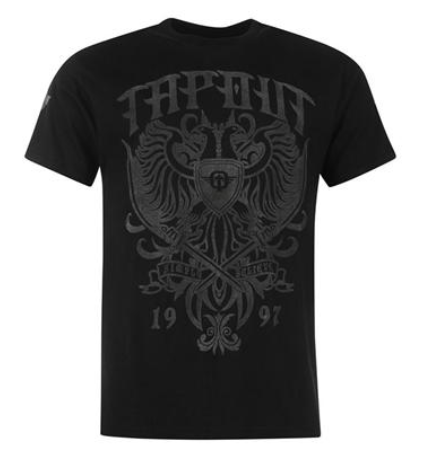 Tapout 'Flock' T Shirt Black