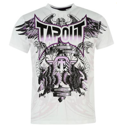 Tapout White & Purple Wings T Shirt