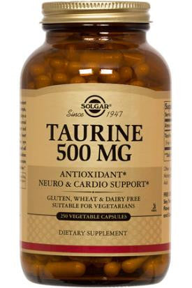 Taurine 500 mg 100 Vegetable Capsules