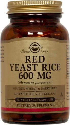 Red Yeast Rice 60 MG 120 Vegetable Capsules