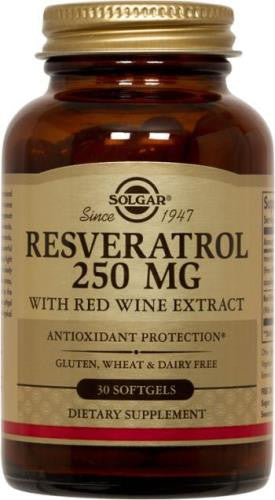 Resveratrol 250 mg with Red Wine Extract 30 Softgels