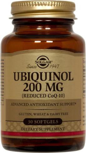 Ubiquinol 200 mg (Reduced CoQ-10) 30 Softgels