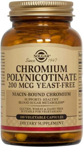 Chromium Polynicotinate 200 mcg 100 Vegetable Capsules