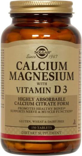 Calcium Magnesium with Vitamin D3 150 Tablets