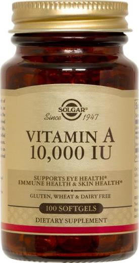 Vitamin A 10,000 IU 100 Softgels