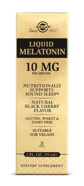 Liquid Melatonin 10 mg - Natural Black Cherry Flavor 2 FL. OZ. (59 ml.)