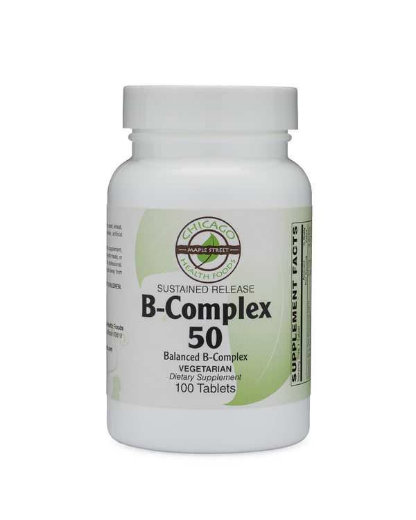 B-Complex 50-supplement-Chicago-Health-Foods