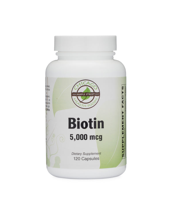 Biotin 5,000 mcg-supplement-Chicago-Health-Foods
