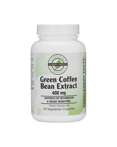 Green Coffee Bean Extract 400 Mg 90 Veg Caps Chicago Health Foods