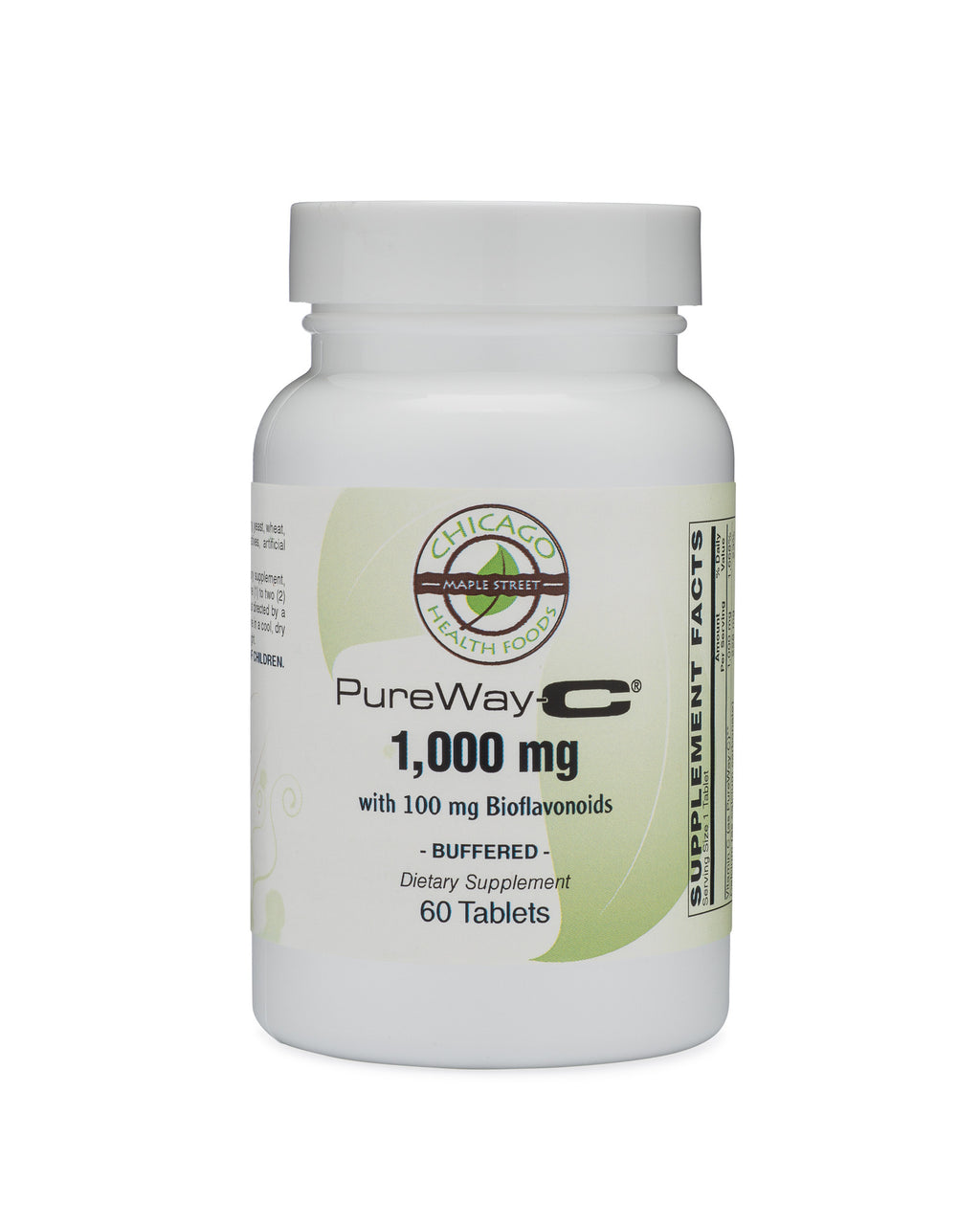 Vitamin C 1,000mg buffered 100mg bioflavonoids 60 tablets chicago health