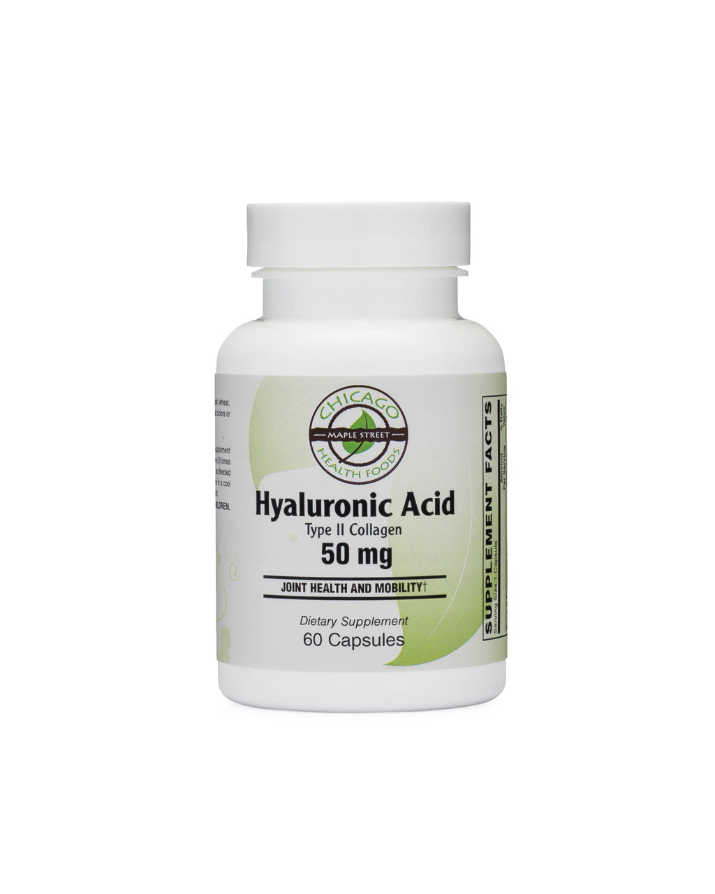 Hyaluronic acid type II collagen-supplement-Chicago-Health-Foods