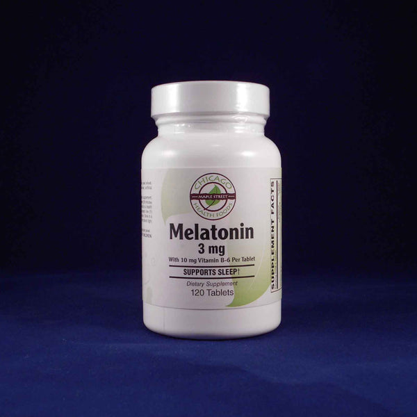 Melatonin 3mg with vitamin B6 120 tablets