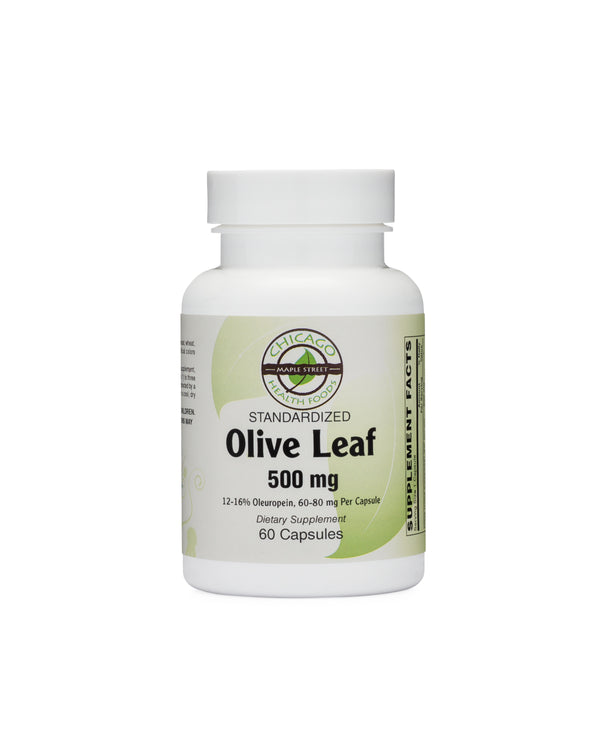 Olive Leaf-500mg-supplement-Chicago-Health-Foods