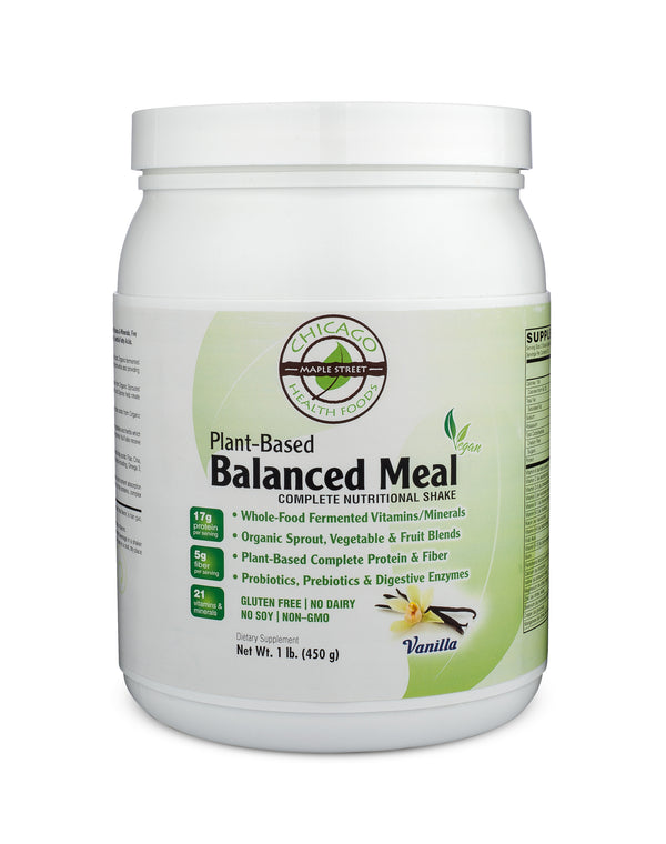Plant Based Balanced Meal Vanilla-supplement-Chicago-Health-Foods