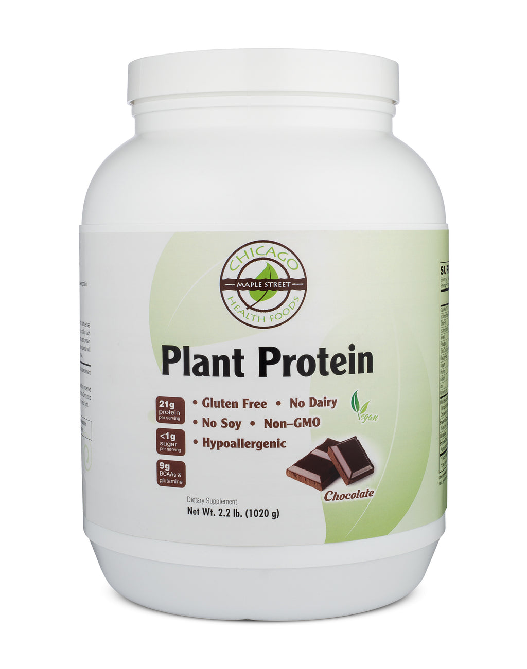 Plant Protein chocolate-supplement-Chicago-Health-Foods