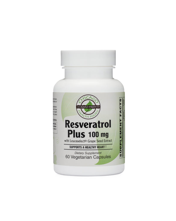 Resveratrol Plus 100mg-supplement-Chicago-Health-Foods