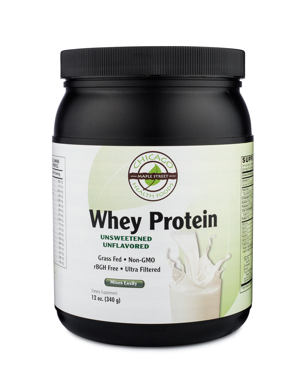 Whey protein unflavored-32oz-supplement-Chicago-Health-Foods
