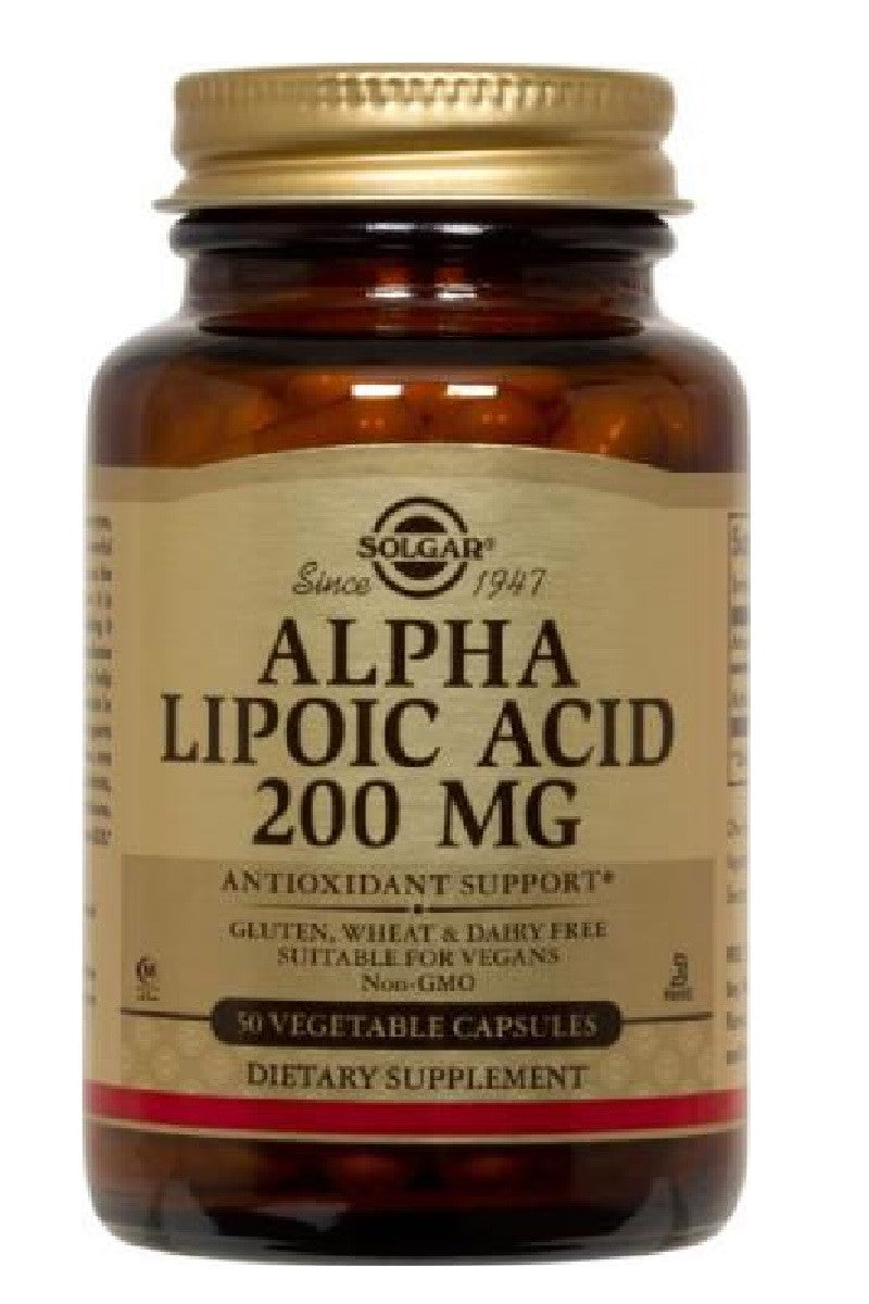 Alpha Lipoic Acid 200 mg 50 Vegetable Capsules