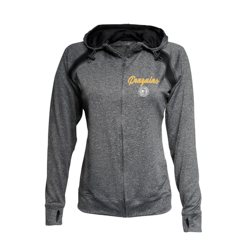 Ladies full zip poly hood