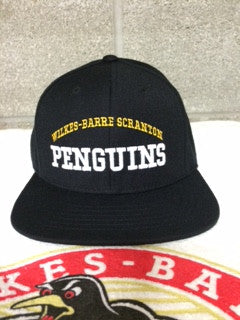 WBS PENGUINS Snapback black hat