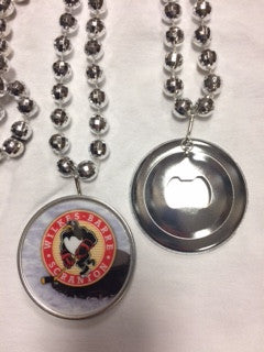 WBS Penguis bottle opener / Mardi Gras Beads