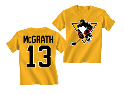 McGrath t shirt YOUTH - gold
