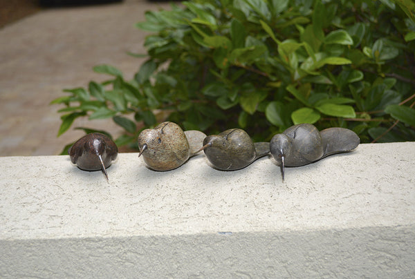 """Stone Birds Planter Decoration"" Shona Sculpture"