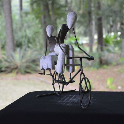 "Happy Moments Collectible No. 11 ""Couple Biking"""