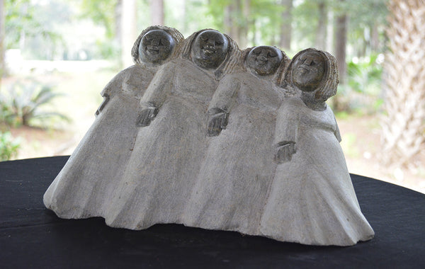 """Four Mammas"" Shona Sculpture"