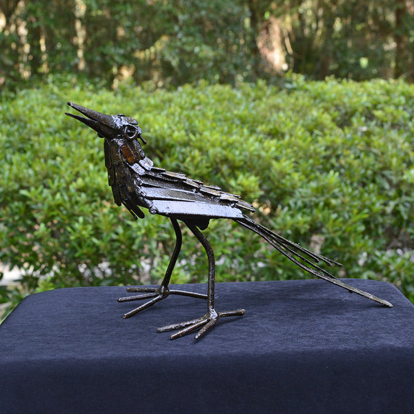 """Secretary Bird"" Recycled Metal Artwork"