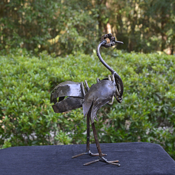 """Small Ostrich"" Recycled Metal Artwork"