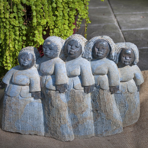 """Choir of Five Mammas"" Shona Sculpture"