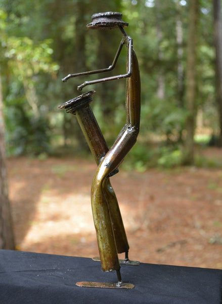 """Drum Player"" Recycled Metal Artwork"