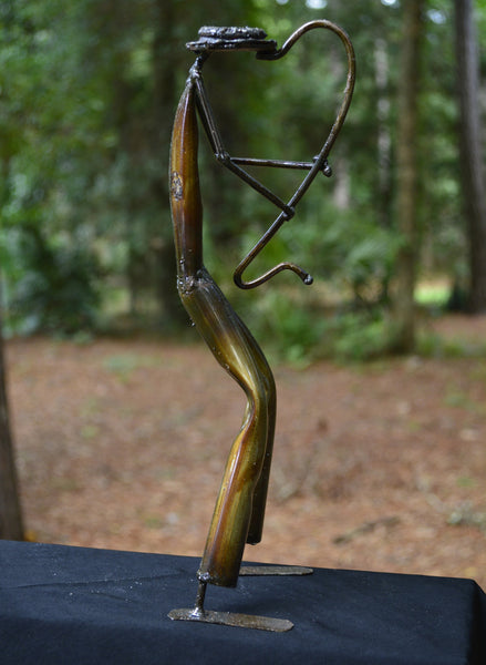 """Saxophone Player"" Recycled Metal Artwork"